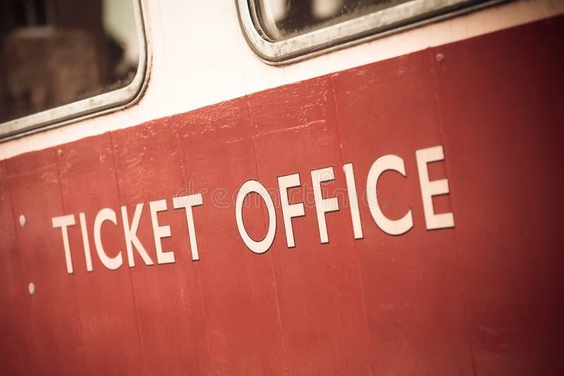 Ufficio di biglietto fotografie stock