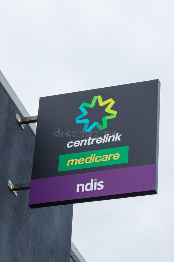 Ufficio di Centrelink, di Assistenza sanitaria statale e di NDIS nell'Ararat in Australia fotografie stock libere da diritti