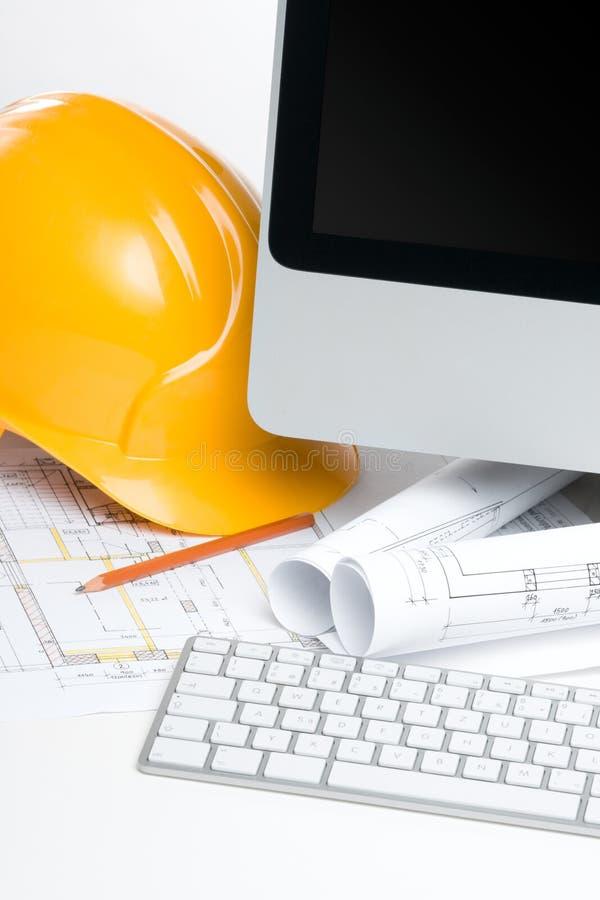 Ufficio di gestore della costruzione fotografia stock libera da diritti