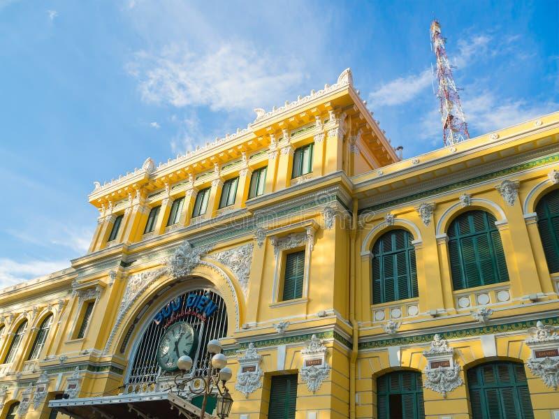 Ufficio di Ho Chi Minh Central Post fotografie stock