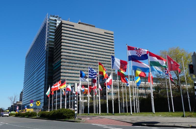Ufficio europeo dei brevetti in Rijswijk, Paesi Bassi fotografia stock libera da diritti