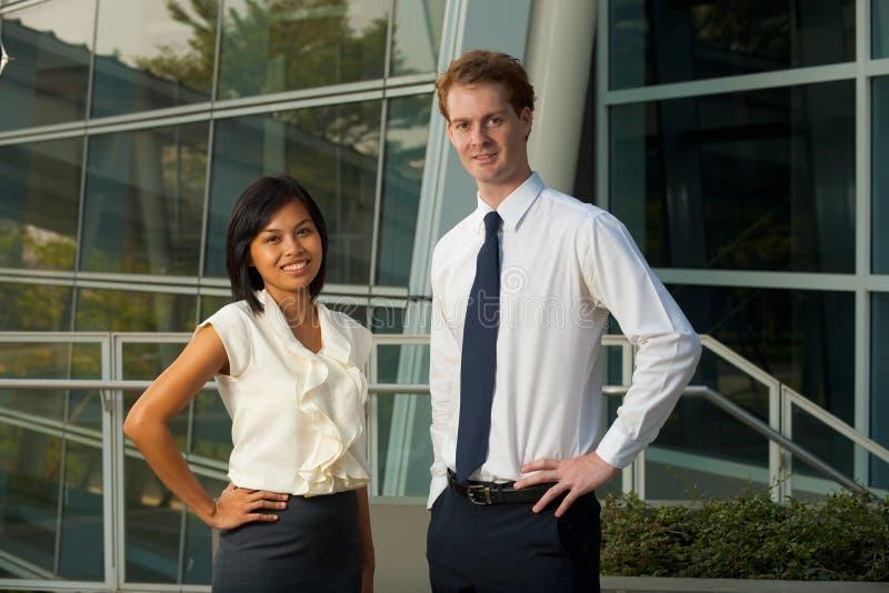 Ufficio femminile maschio H dei professionisti di affari immagine stock