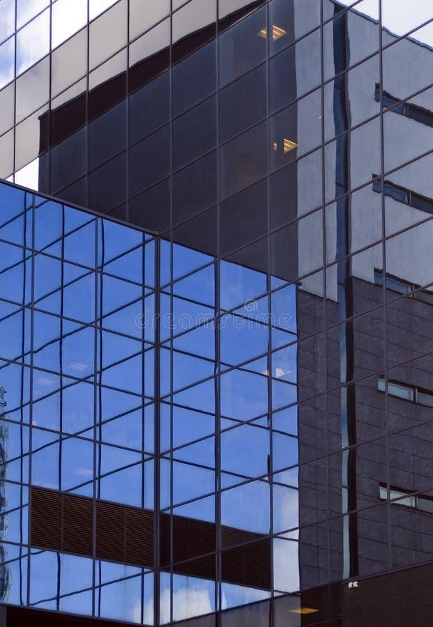 ufficio futuristico di costruzione fotografia stock