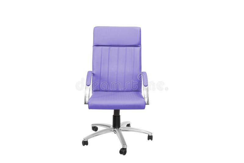 Ufficio grigio una sedia Oggetto isolato di fondo fotografia stock libera da diritti