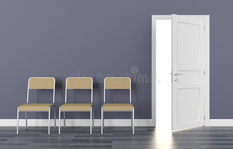 Ufficio interno del sedile della sedia della sala di attesa immagini stock