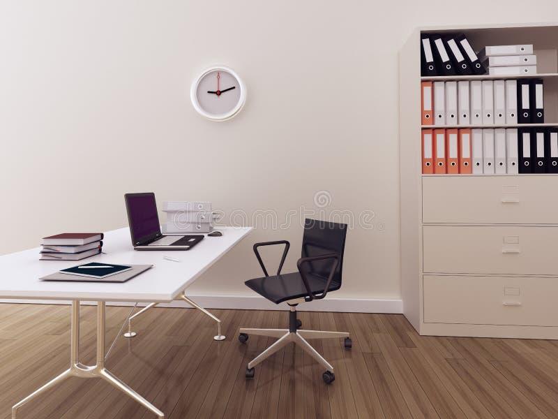 Ufficio interno moderno royalty illustrazione gratis