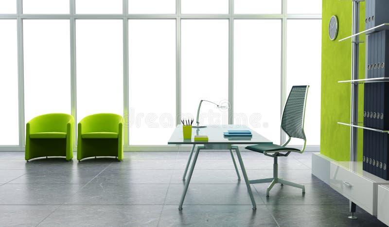 Ufficio moderno 3d interno illustrazione vettoriale