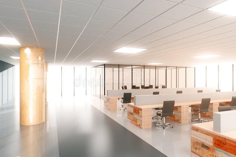Ufficio Moderno Di Lusso : Ufficio moderno aperto dello spazio della grande luce