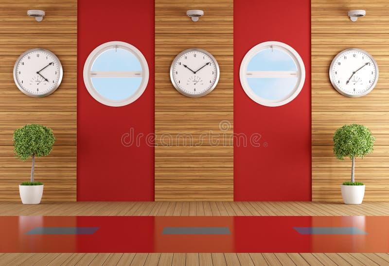 Ufficio moderno senza mobilia royalty illustrazione gratis