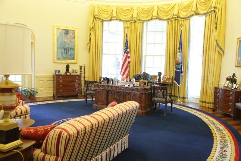 ufficio ovale del presidente clinton immagine editoriale