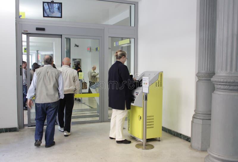 Ufficio postale italiano immagini stock