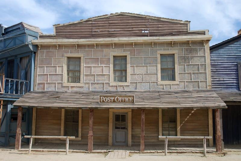 Ufficio postale in una vecchia città americana fotografia stock