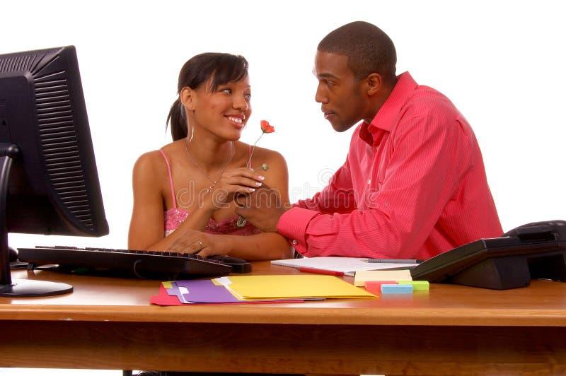 Ufficio Romance fotografia stock libera da diritti