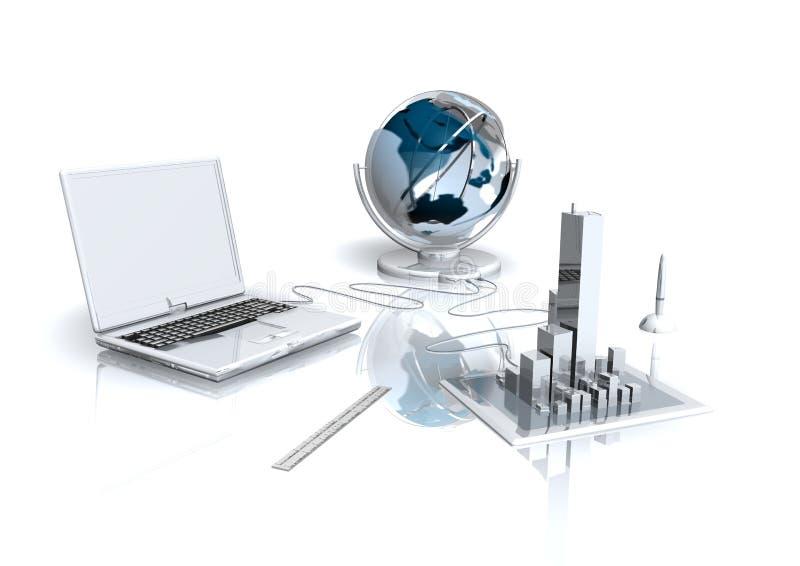 Ufficio virtuale illustrazione vettoriale