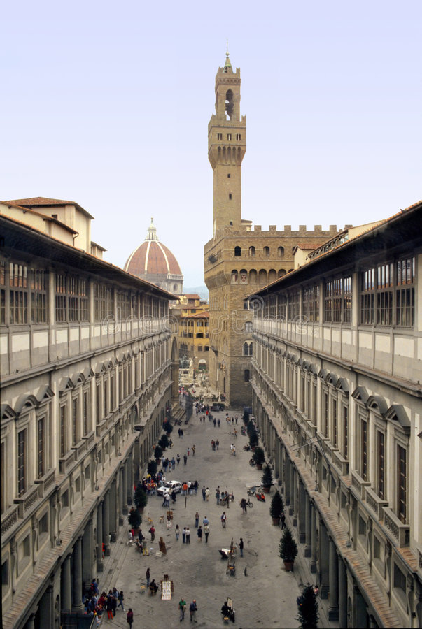 uffizi της Φλωρεντίας στοκ φωτογραφία με δικαίωμα ελεύθερης χρήσης