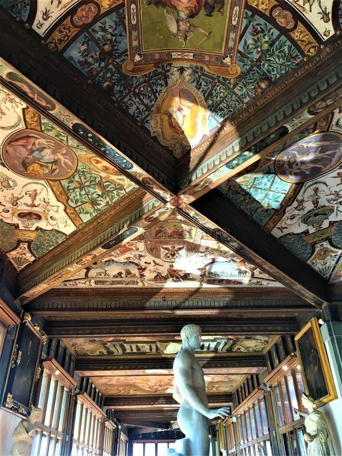 Uffizi-Galerie in Florenz, in der Kunst und in der Geschichte stockfoto