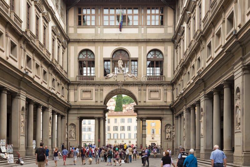 Uffizi galleri, Florence, Italien fotografering för bildbyråer