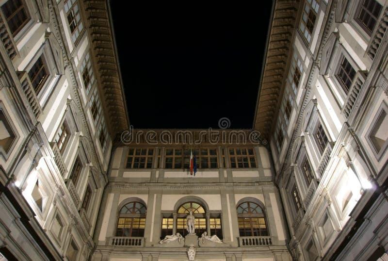 Uffizi galleri i Florence royaltyfri foto