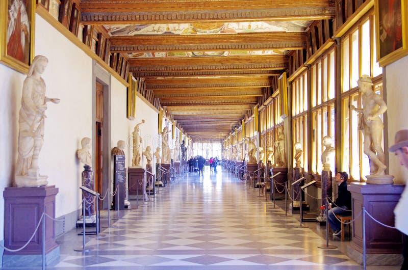 Uffizi galleri i Florence, Italien royaltyfri fotografi