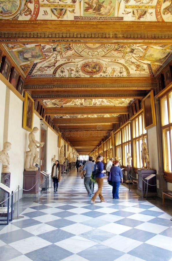 Uffizi galleri i Florence, Italien royaltyfri bild