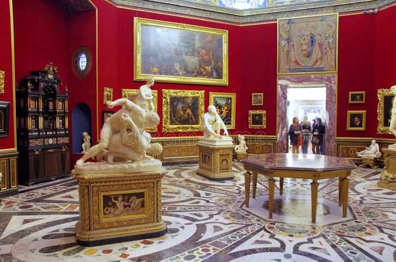 Uffizi galleri i Florence, Italien fotografering för bildbyråer
