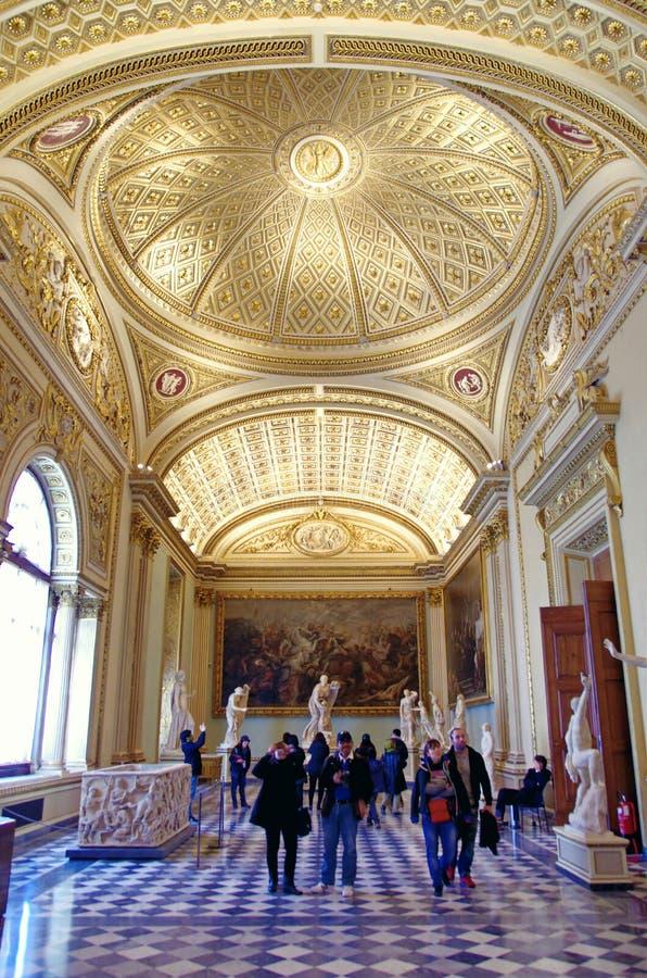 Uffizi galleri i Florence, Italien arkivfoto