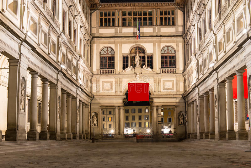 Uffizi Gallery, primary art museum of Florence Tuscany stock image