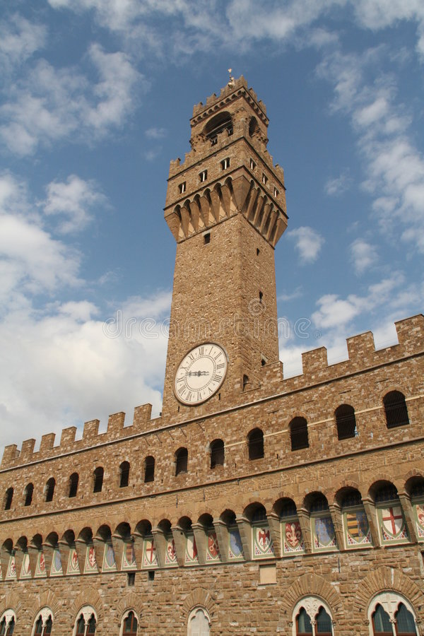 Uffizi Gallery's Tower royalty free stock photos