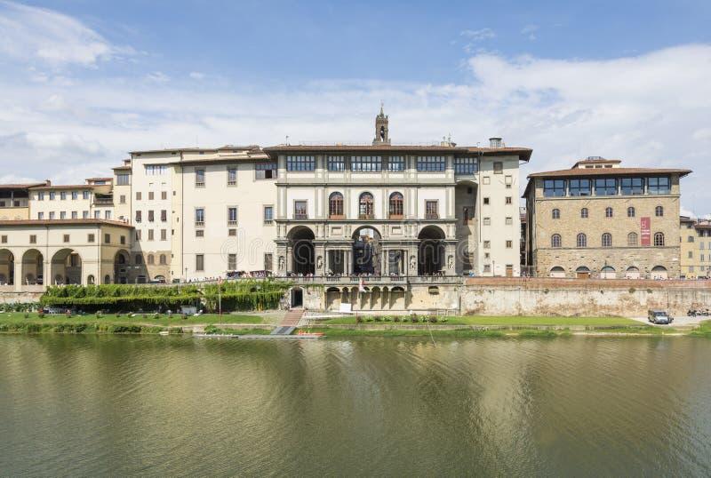 Uffizi museum stock photography