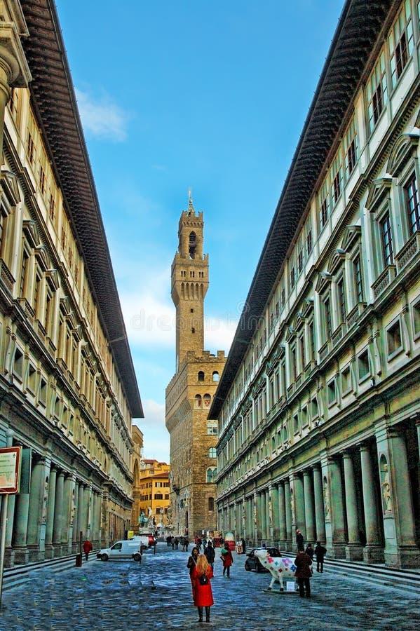 Uffizi Palazzo w Florencja w Florencja obraz royalty free