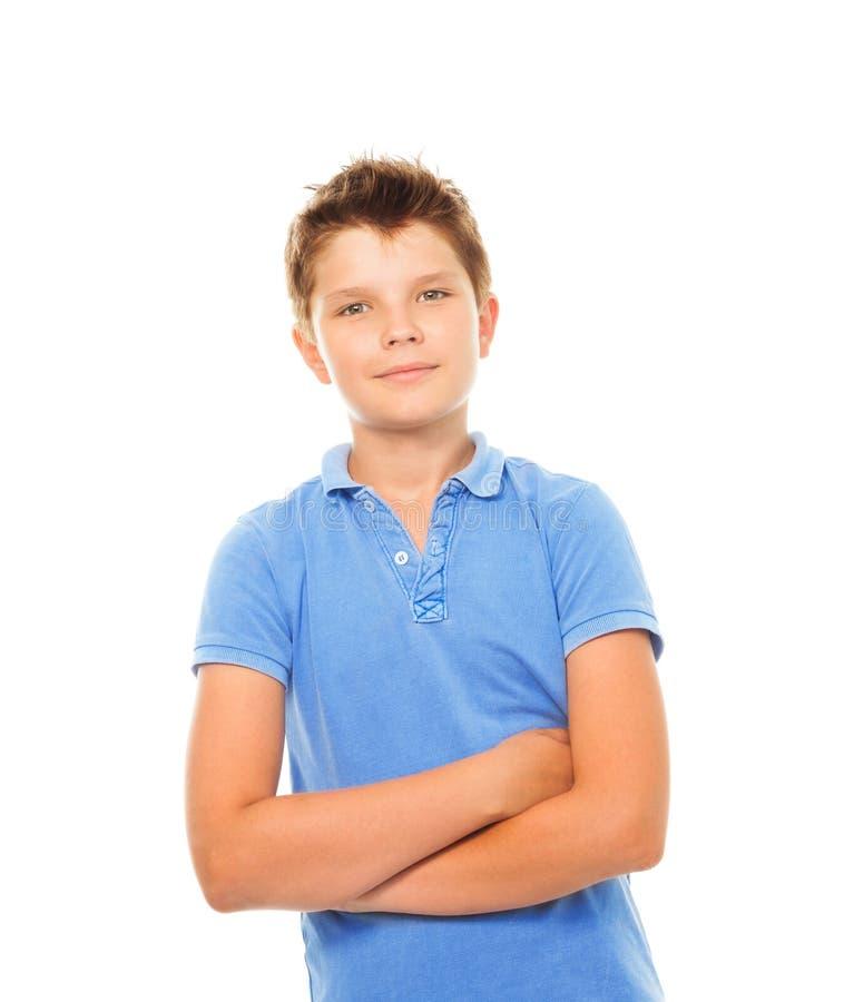 Ufna chłopiec zdjęcie royalty free