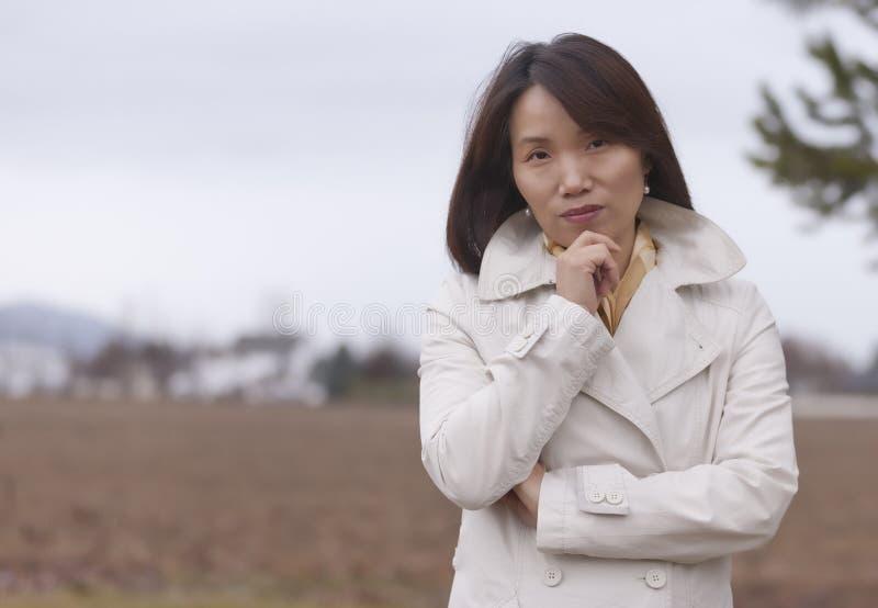 Ufna Koreańska kobieta obraz royalty free