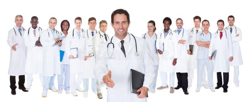 Ufne lekarki przeciw białemu tłu obrazy stock