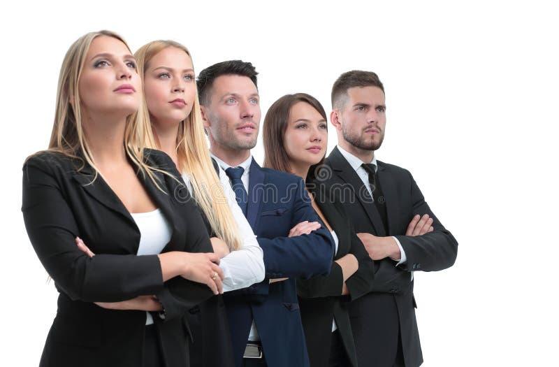 Ufnej biznes drużyny przyglądający up zdjęcia stock