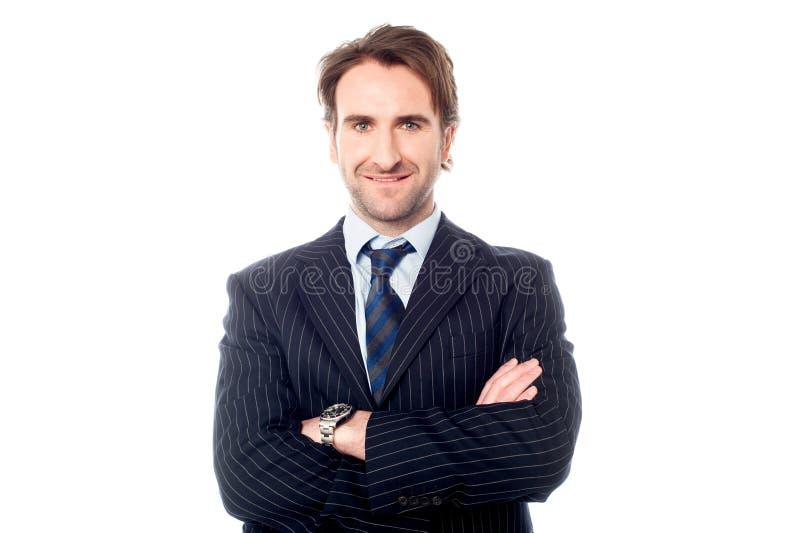Ufny przystojny dyrektor wykonawczy zdjęcia royalty free