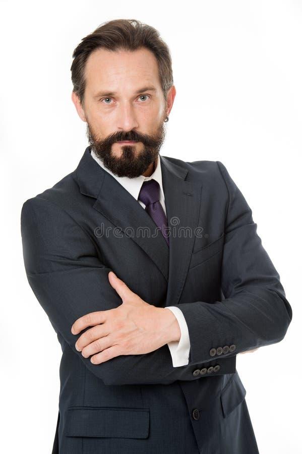 Ufny w jego doskonałości Biznesmena kierownika odzieży chwyta klasyczne formalne ręki krzyżować Biznesowy zachowanie musi być zdjęcie royalty free