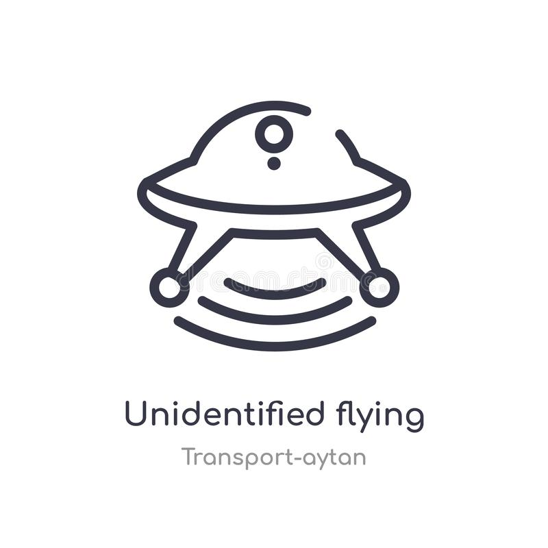 UFO概述象 r r 库存例证