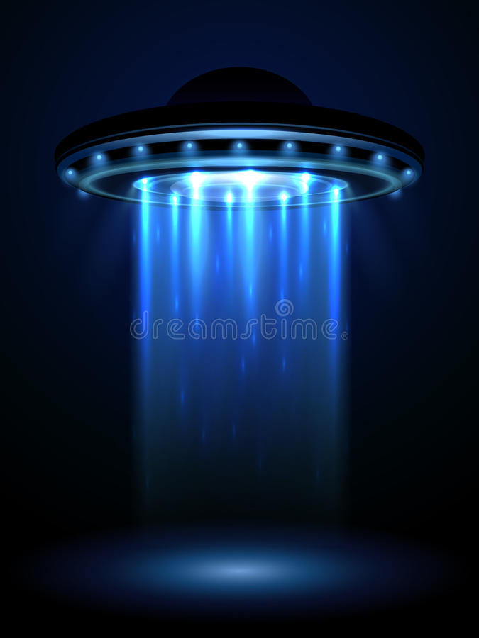 Ufo αλλοδαπών, interstellar διανυσματική απεικόνιση διαστημοπλοίων ελεύθερη απεικόνιση δικαιώματος