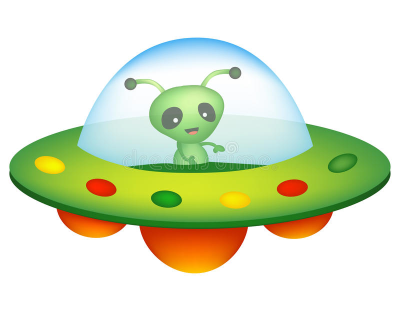 UFO και αλλοδαπός ελεύθερη απεικόνιση δικαιώματος
