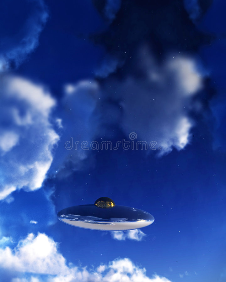 UFO στον ουρανό 2 στοκ φωτογραφία με δικαίωμα ελεύθερης χρήσης