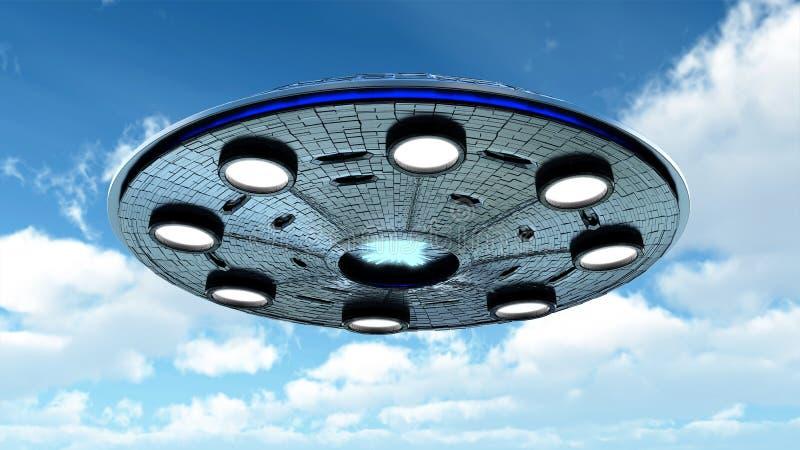 UFO στον ουρανό απεικόνιση αποθεμάτων