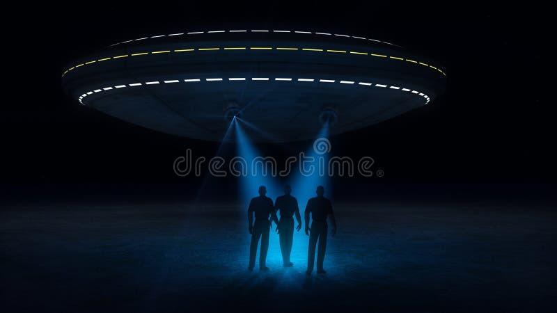 Ufo атакуя и похищая бесплатная иллюстрация