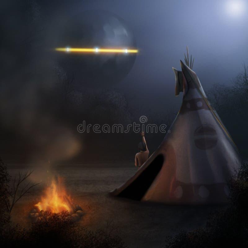 UFO - Картина цифров бесплатная иллюстрация