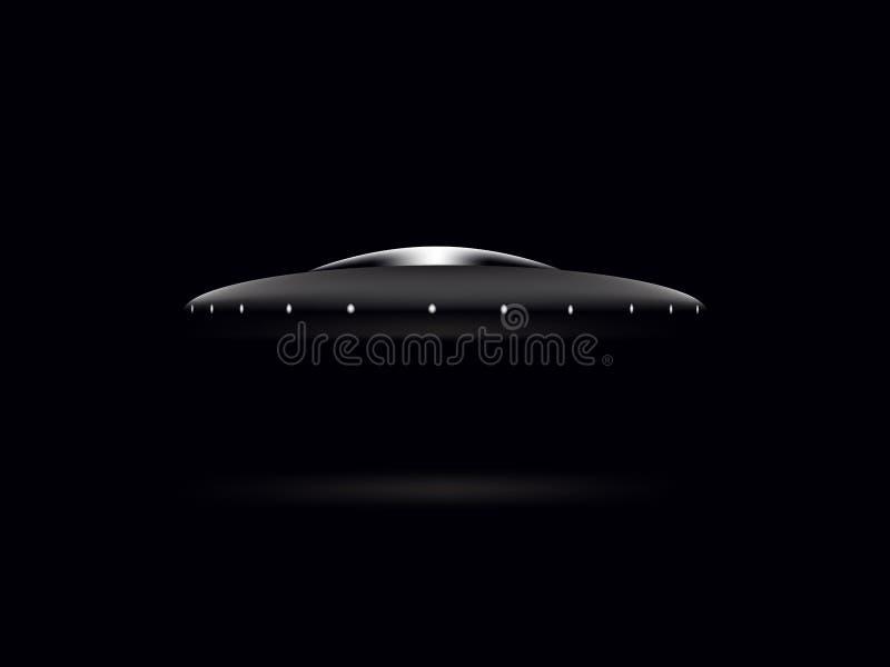 UFO поддонника на черной предпосылке стоковые фото