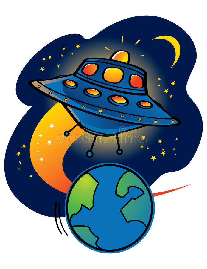 ufo чужеземцев иллюстрация штока