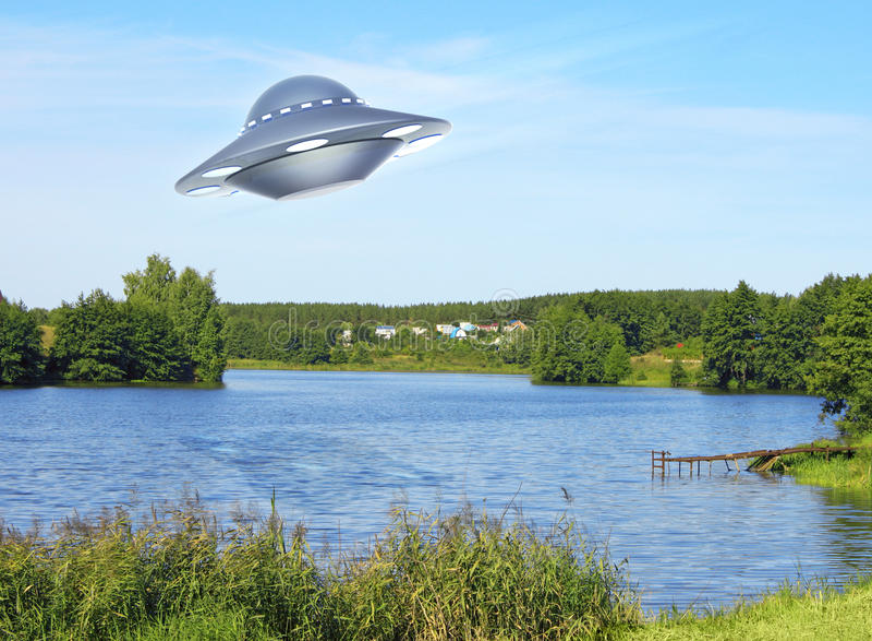 ufo royaltyfri illustrationer