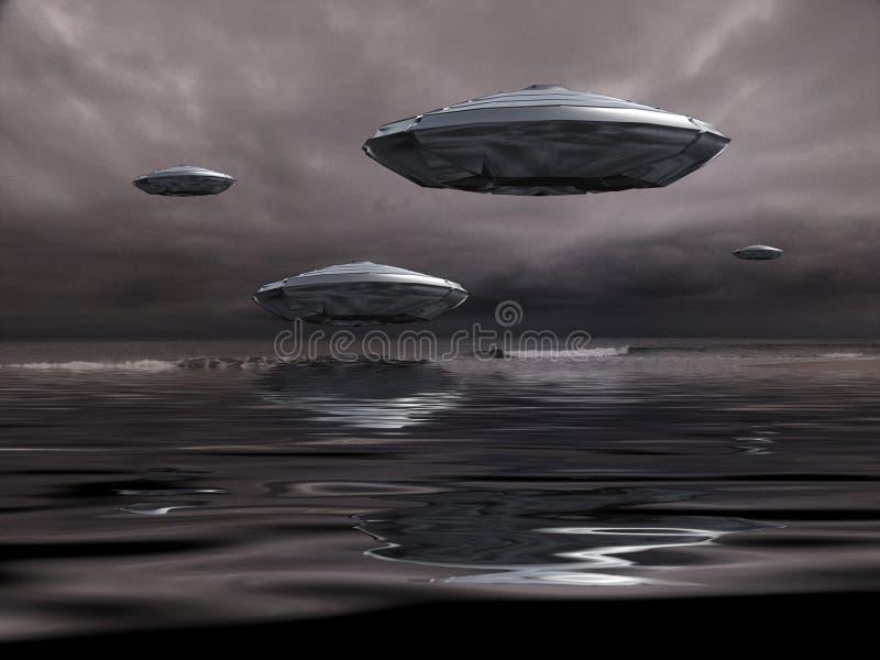 Ufo vektor illustrationer