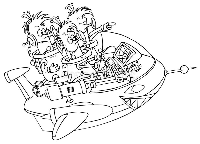 UFO ilustração royalty free