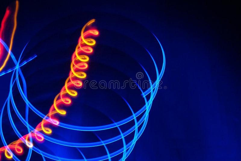 UFO. Blue and orang light from UFO royalty free stock image