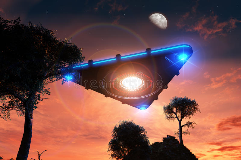 ufo royaltyfri illustrationer